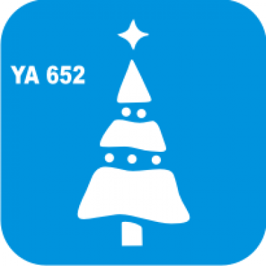 Трафарет для бодиарта Новый Год  Ёлка код № YA 652