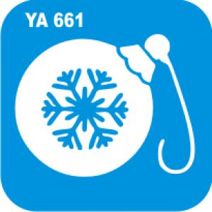 """Трафарет для бодиарта Новый Год """"Новогодняя игрушка""""  код № YA 661"""
