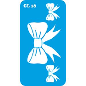 Трафарет для бодиарта  Бантик код GL 18