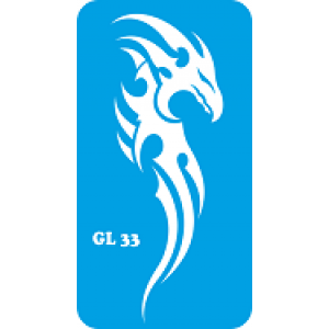 Трафарет для бодиарта Дракон код GL 33