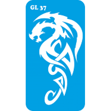 Трафарет для бодиарта Дракон код GL 37