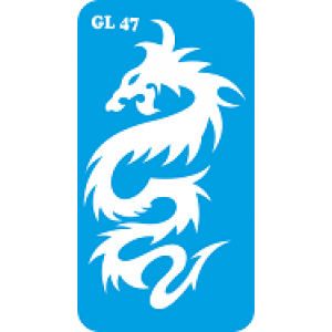 Трафарет для бодиарта дракон код GL 47