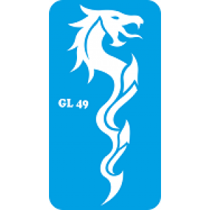 Трафарет для бодиарта дракон код GL 49