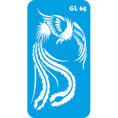 Трафарет для бодиарта Жар-Птица  код GL 65