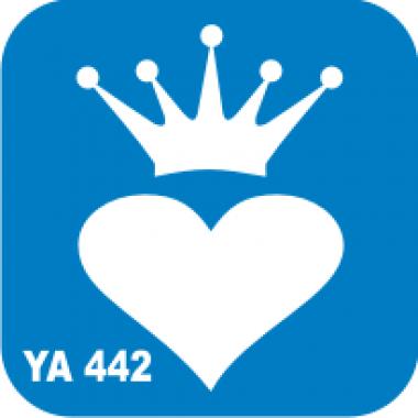 Трафарет для бодиарта Любовь Сердце с коронойкод № YA 442