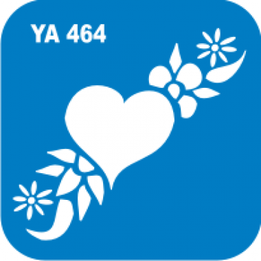 Трафарет для бодиарта Любовь Сердце узоры код № YA 464