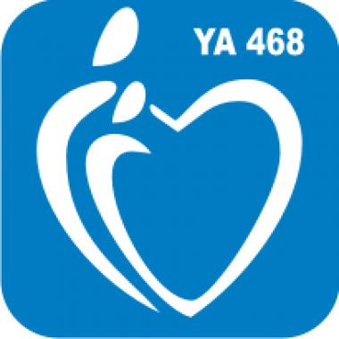 Трафарет для бодиарта Любовь Сердце-свеча код № YA 468
