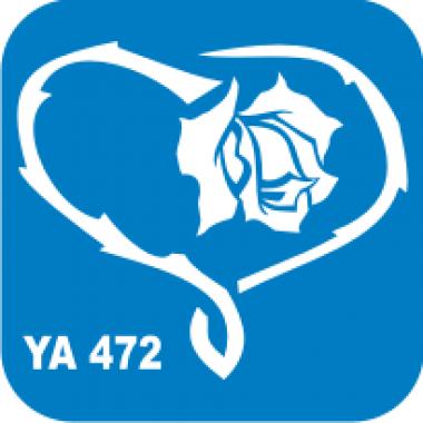 Трафарет для бодиарта Любовь Сердце_роза  код № YA 472
