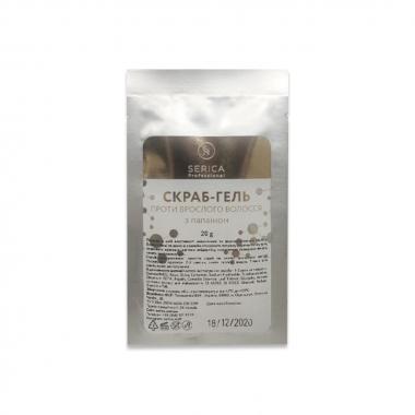 Скраб-гель против врастания волос Papain gel-scrub c папаином 20 грамм